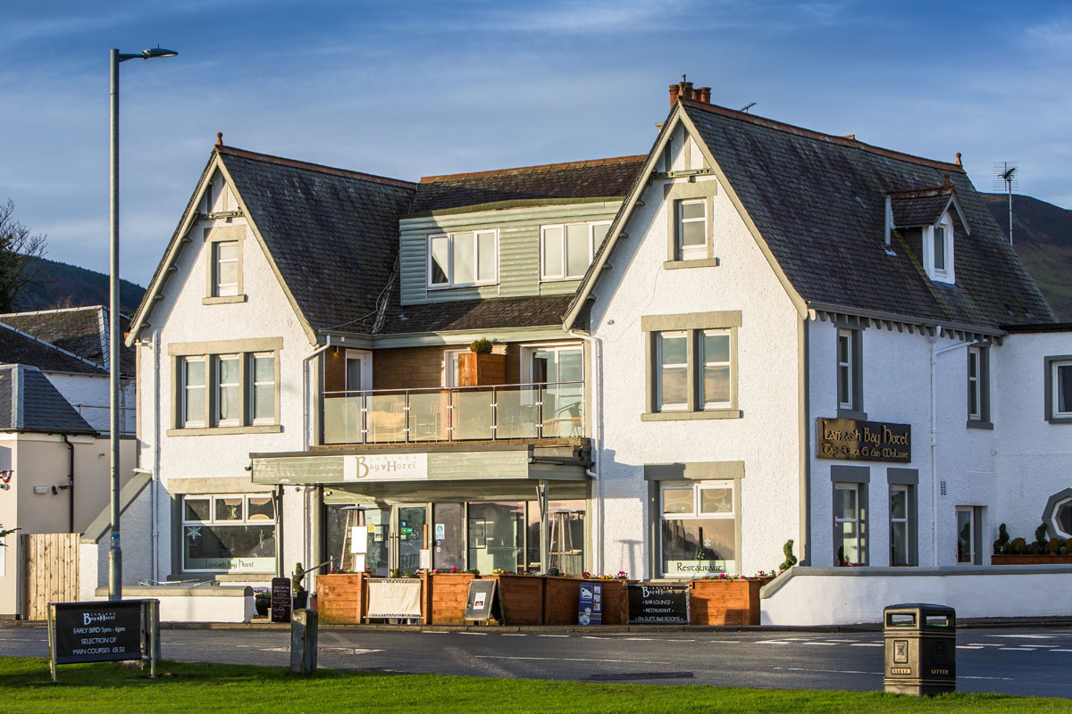 across the road at lamlash bay hotel