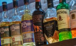 range of whiskies available at the lamash bay hotel bar